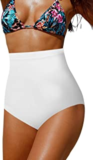Women's High Waisted Swimsuit Bikini Bottoms Tummy Control Tankini Bottoms Swim Shorts Plus Size
