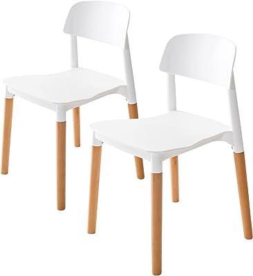 La Bella Replica Belloch Stackable Dining Chair - White X2