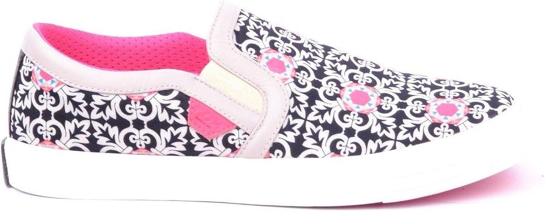 MOA Women's MCBI16407 Black Fabric Slip On Sneakers