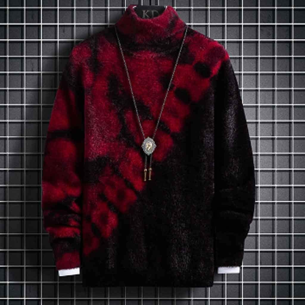 ZYING Turtleneck Sweater Men Clothing New Fall Winter Knitwear Thick Pullover Men Fashion High Neck Soft Warm Pull Homme (Color : M Code)