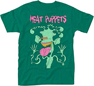 Meat Puppets T Shirt Monster Band Logo Official Mens Green