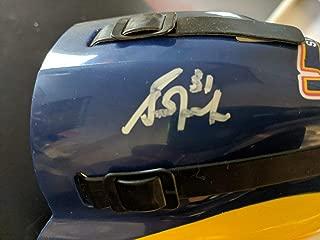 Grant Fuhr Autographed Signed Mini Helmet Autographed Signed Signature JSA COA Edmonton Oilers