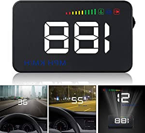 GOFORJUMP Head Display A500 Car Speed Projector 3 5Inch Universal Car-styling Windshield OBD2 GPS Digital Car Speedometer Alarm