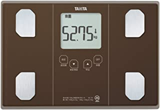 タニタ 体重 体組成計 50g ブラウン BC-314 BR 自動認識機能付き/立掛け収納OK