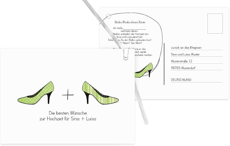 Ballonkarte High Heels, 90 Karten, ApfelGrün B07CQSKL9H | Schön