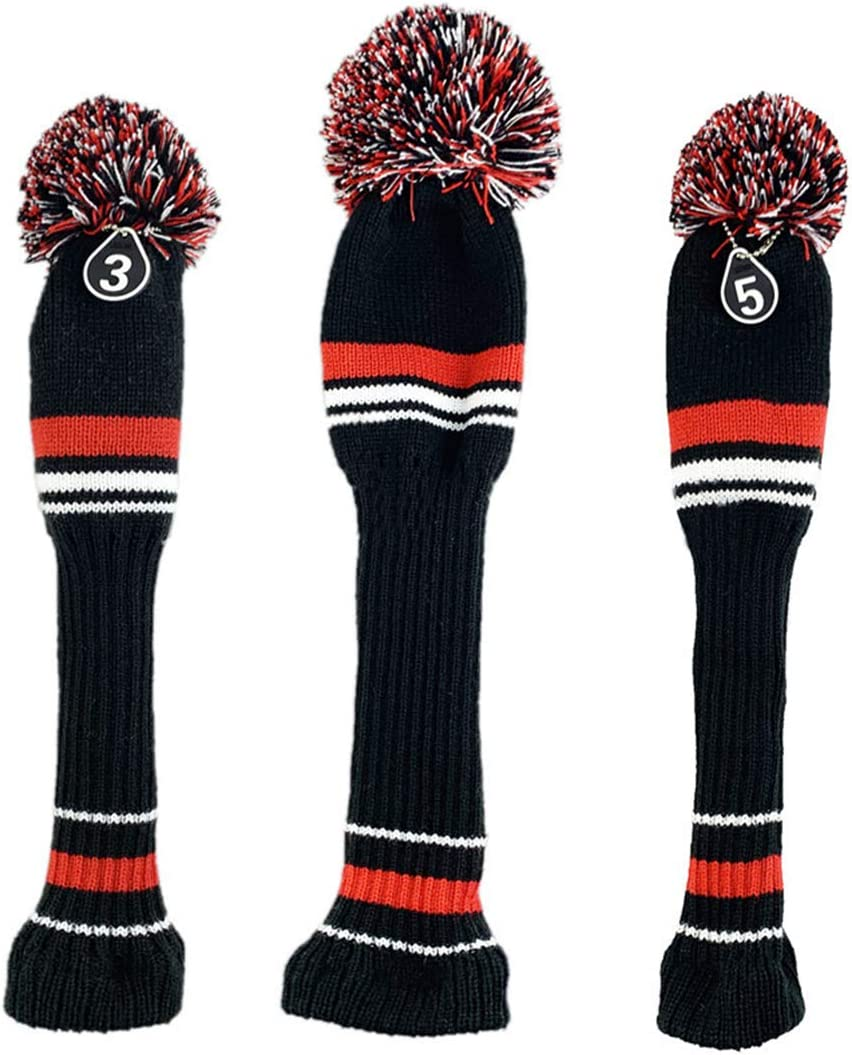 LOXASUM Knitted Golf Head Covers Fairway Driver Long Special price Woods Cheap mail order shopping with