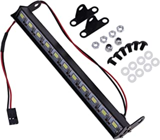 Vattentät metall LED Ljusstång Compatible with Traxxas -4 Compatible with Wrangler 1/10 Rock Crawler