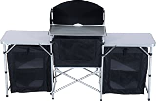 Outsunny 6' Deluxe Portable Fold-Up Camp Kitchen with Windscreen