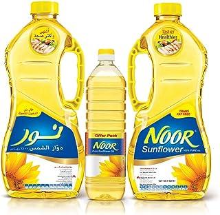 NOOR Sunflower Oil, 2 x 1.8 Litre + 750 ml