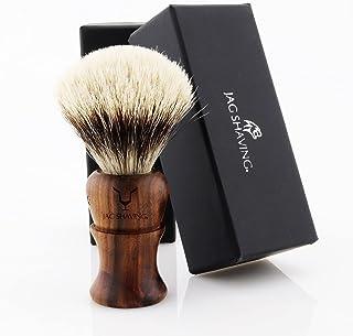 Jag Shaving Scheerkwast - Silvertip Badger scheerkwast - Duurzame scheerkwast van hout - Elegant design houten grip - perf...