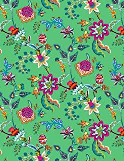 My Big Fat Journal Notebook Chinoiserie Pattern On Green: Jumbo Sized Ruled Notebook Journal - 300 Plus Lined and Numbered Pages With Index For ... 11 Size (Jumbo Lined Journal 2) (Volume 42)