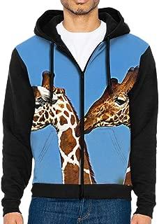 GYANG Full-Zip Sweatshirt Giraffe Men's Printed Power Long Sleeve Pullover Hooded Shirts Pocket