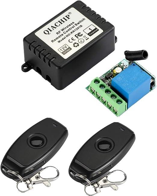 QIACHIP DC 12V 1CH 433Mhz RF Wireless Relay - KR1201B_1
