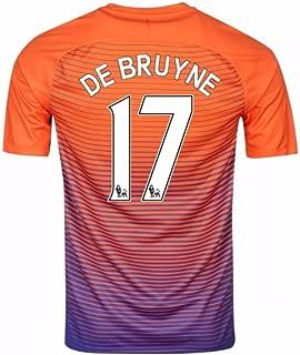 2016-17 Manchester City Third Football Soccer T-Shirt Jersey (Kevin De Bruyne 17)