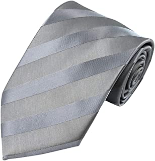 Jacob Alexander Men's Solid Color Tonal Stripe Neck Tie