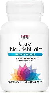 GNC Women's Ultra NourishHair Beauty Basics, 60 Caplets, Supports Strong and Healthy Hair