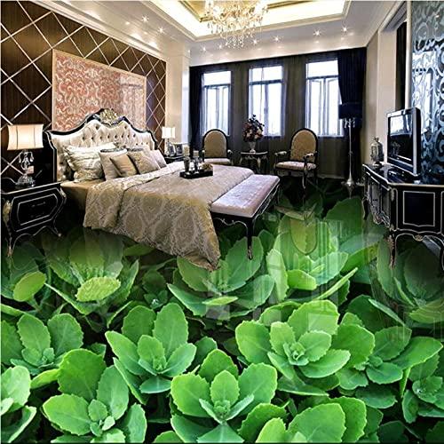 Murales de papel tapiz personalizados verde pastoral grande 3D sala de estar dormitorio baño azulejo piso pintura pared papel-250x175cm