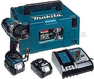 """Makita DTW1001RTJ Brushless - Llave de impacto 1050Nm, inserción 3/4"""", 2 baterías de 18V, 5.0 Ah Li-ion"""