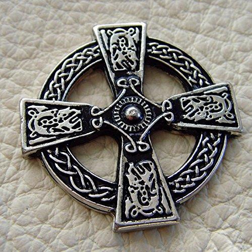 Lederbeutel Dukatenbeutel Geldkatze Farbe schwarz Scotish Cross - 2