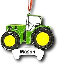 JOHN DEERE Personalized Tractor Christmas Ornament - Custom Name