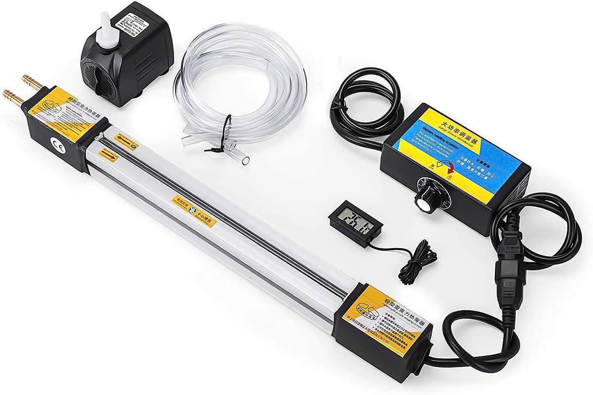 Dobladora de tiras de plástico acrílico, máquina dobladora de acrílico Caja de luz Dobladora de calentador de máquina dobladora de PVC 1-6 mm Espesor 30 cm / 60 cm / 120 cm para ángulo y longitud