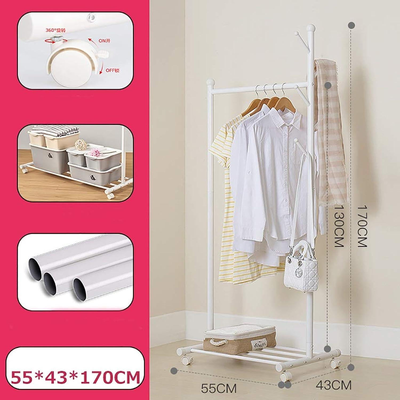 Coat Rack Floor Free Standing Coat Rack Hall Hall Coat Rack Wrought Iron Clothing Store Display Stand (Size   55  43  170cm)