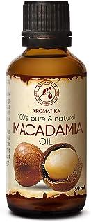 Aceite de Macadamia 50ml - Macadamia Integrifolia - Suráfrica - 100% Puro y Natural - Botella de Vidrio - Cuidado Intensiv...