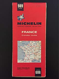 1970 Michelin #989 France Grandes Routes Road Map