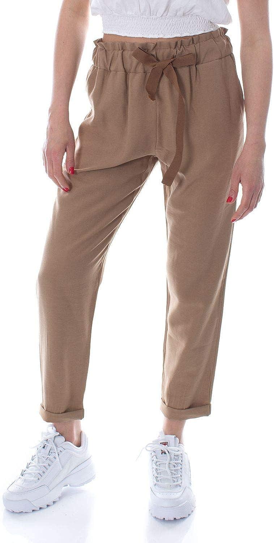 Susymix Women's PE181BEIGE Beige Polyamide Pants