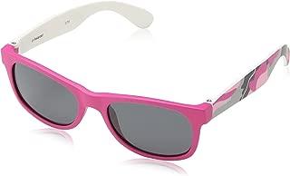 P0300s Polarised Wayfarer Sunglasses, Fuchsia Camouflage/Gray Polarized, 42 mm