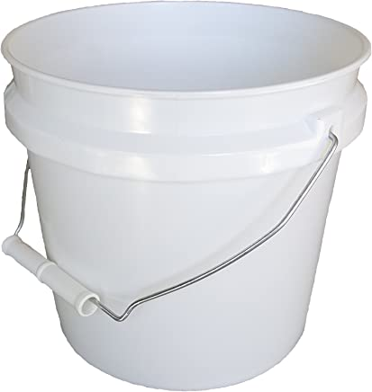 Leaktite 744456 1-Gallon White Plastic Pail Paint Pail/Container