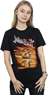 Judas Priest Women's Firepower Cover Boyfriend Fit T-Shirt