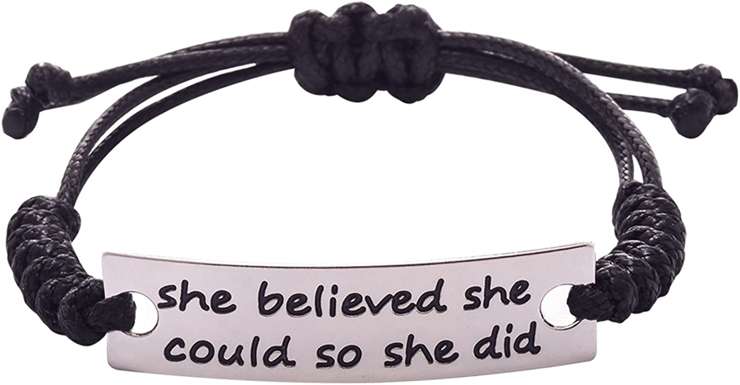 BaubleStar She Believed she Could so she did Inspirational Bracelet Gift Jewelry