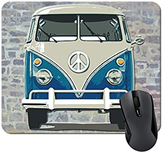 Blue VW Mouse Pad VW Bus Gifts Volkswagen Camper Van Mousepad Funny Computer Accessories Office Supplies