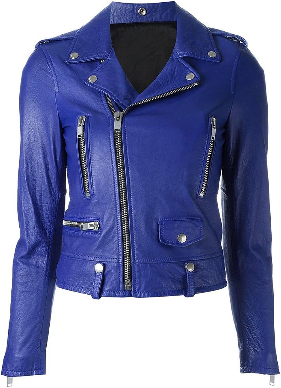 2016 Hailey Baldwin Latest Outfit bluee Brando Biker Leather Jacket