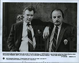 Historic Images - 1993 Press Photo David Caruso & Dennis Franz for NYPD Blue ABC TV Series