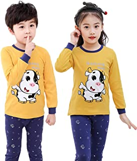 2 Pieces Boys or Girls Suit Cotton Pajama Set