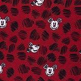 Swafing GmbH Lizenz Sweat Mickey Mouse Kopf rot - Stoff -
