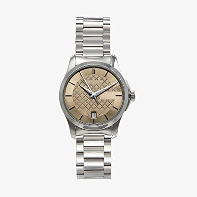 Gucci G-Timeless Small 27mm YA126526 (Silver/Brown) Watches