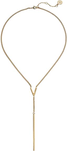 "Vince Camuto 18""  ""V"" Lariat Necklace"
