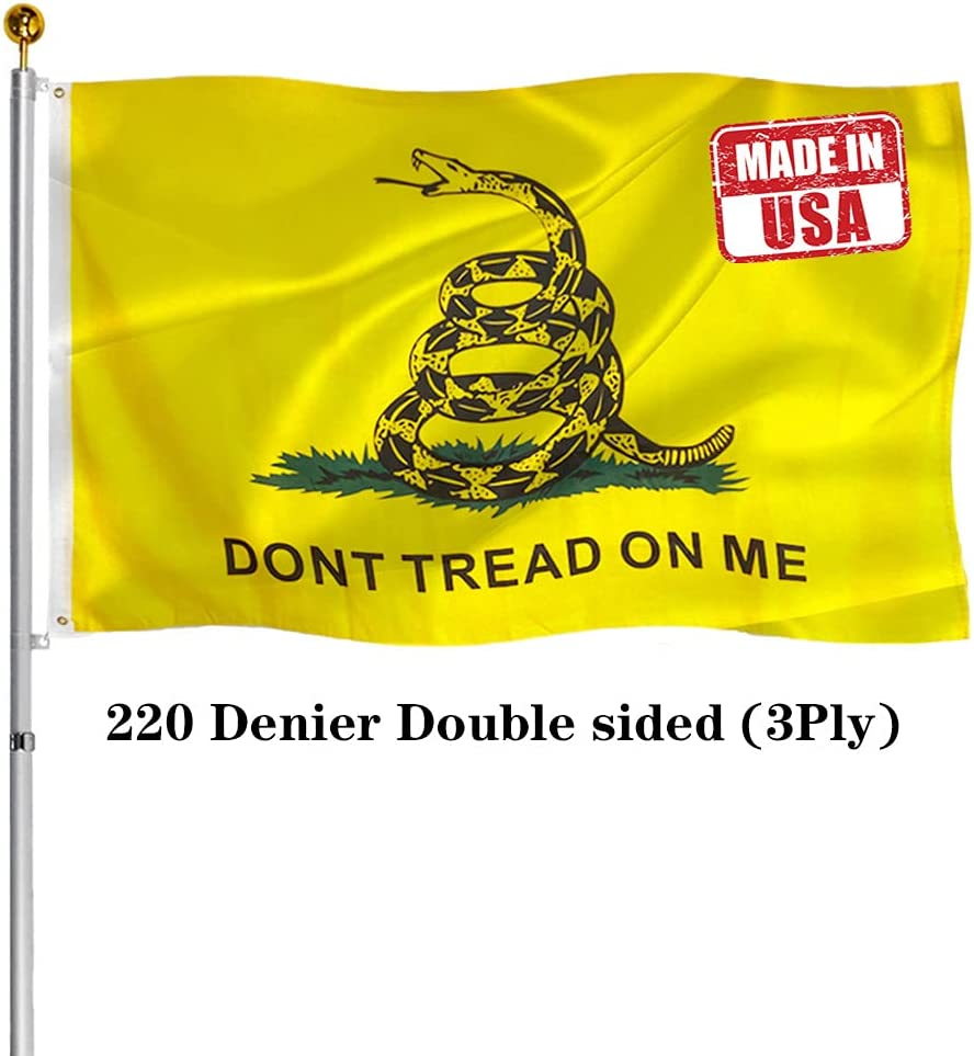 Hypoth Discount is also Store underway Double Sided Gadsden Flag Fade UV Resistant 3x5 Outdoor-