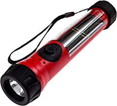 SOS Solarlight Solar Flashlight with compass and dual battery back up system Great for Emergency Power Outages Camping Hiking Walking the Dog Bug out Bag Anytime you need a reliable flashlight.