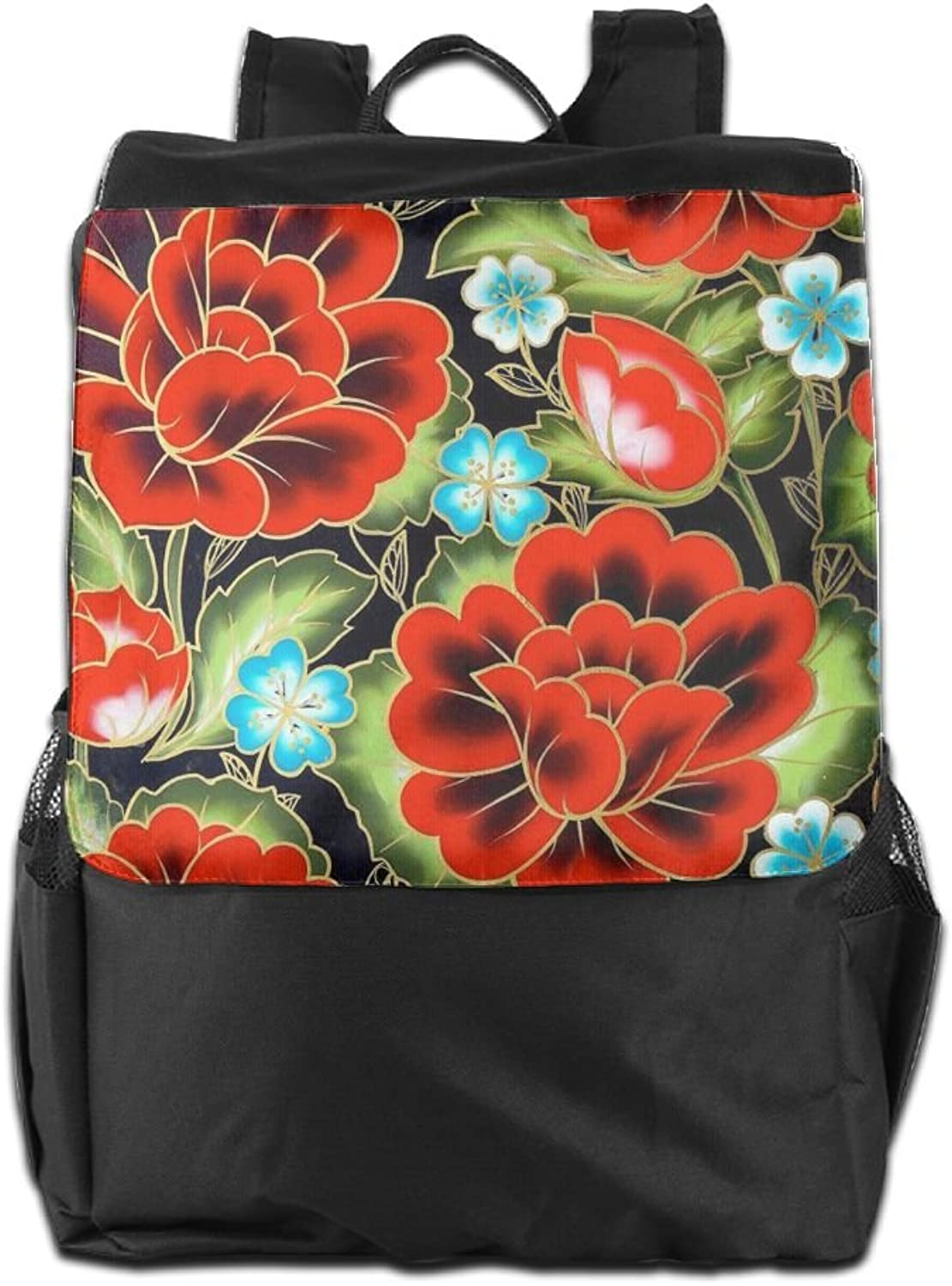 HSVCUY Personalized Outdoors Backpack,Travel Camping School-rot Flowers Flowers Flowers Adjustable Shoulder Strap Storage Dayback for damen and Men B07FYXX5PJ  Ausgezeichnete Qualität b7bf96