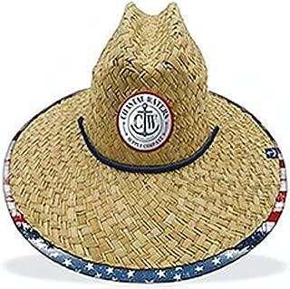 Coastal Waters Supply Company USA Print Straw Sun Hat