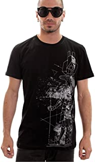 Anubis God T-Shirt - Premium Quality 100% Cotton Graphic Tee for Men in Black