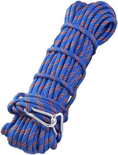 Rock climbing rope Corde D'Escalade Léger Randonnée en Montagne Sauvetage Prise De Vue en Extérieur Cordes D'extérieur Assistance à La Survie,bleu-10m