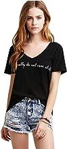 FV RELAY Women's Summer Han.gry Print T-Shirt Short Sleeve Tee Shirts Casual Tops