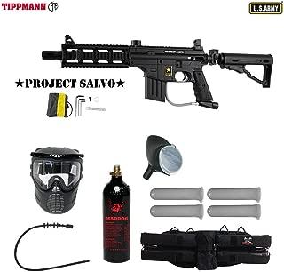 MAddog Tippmann U.S. Army Project Salvo Silver Paintball Gun Package - Black