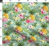 Tropisch, Hawaii, Hibiskus, Ananas, Boho, Bohemien Stoffe -