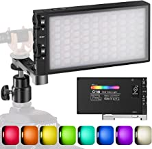 Pixel G1s RGB Video Light, Built-in 12W Rechargeable Battery LED Camera Light 360� Full Color 12 Common Light Effects, CRI=97 2500-8500K LED Video Light Panel with Aluminum Alloy Body